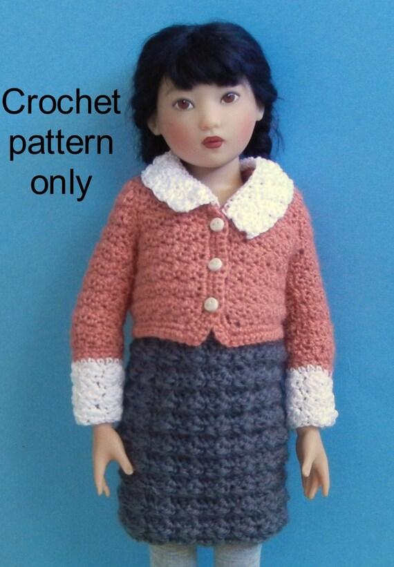 58fc4960f Crochet pattern PDF for 14-inch child doll Chrysalis by Kish | Etsy