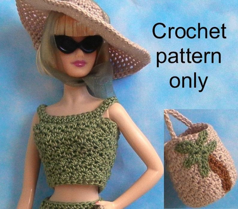 Crochet Pattern Pdf For Silkstone Barbie Basics Poppy Parker Etsy