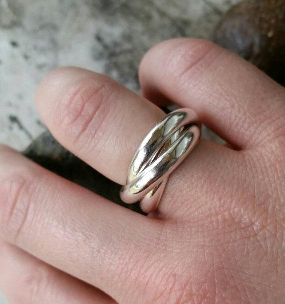 Trinity Wedding Band Cartier Russian Wedding Ring Rolling Etsy