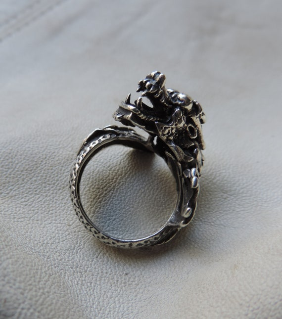 dragon ring sterling silver handmade dragon ring c