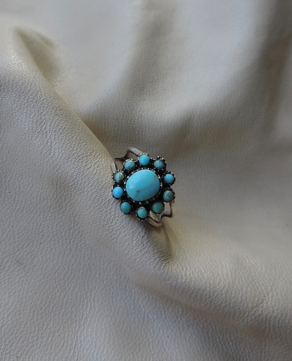 vintage ring sterling silver turquoise ring authen