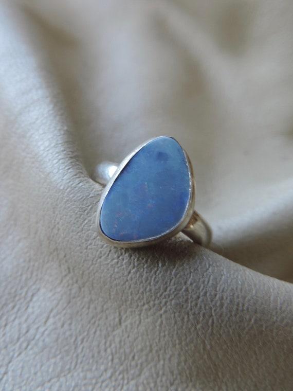 opal ring handmade opal ring opal doublet ring ste