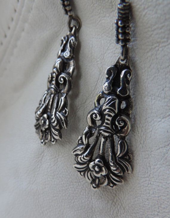 antique drop earrings antique earrings silver earr