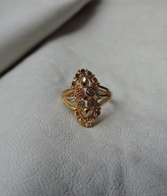 antique ring 22k gold ring size 2 antique ring 22k