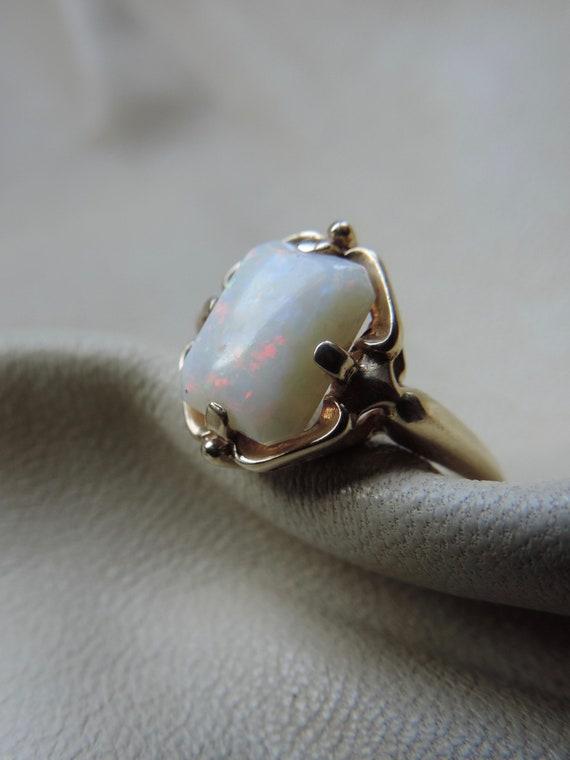 antique ring antique opal ring 10k gold opal ring