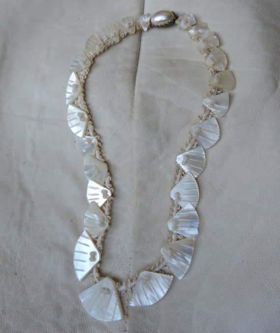 wedding necklace graduated shell necklace hand mad