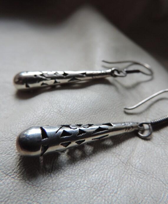drop earrings sterling cut out vintage earrings st