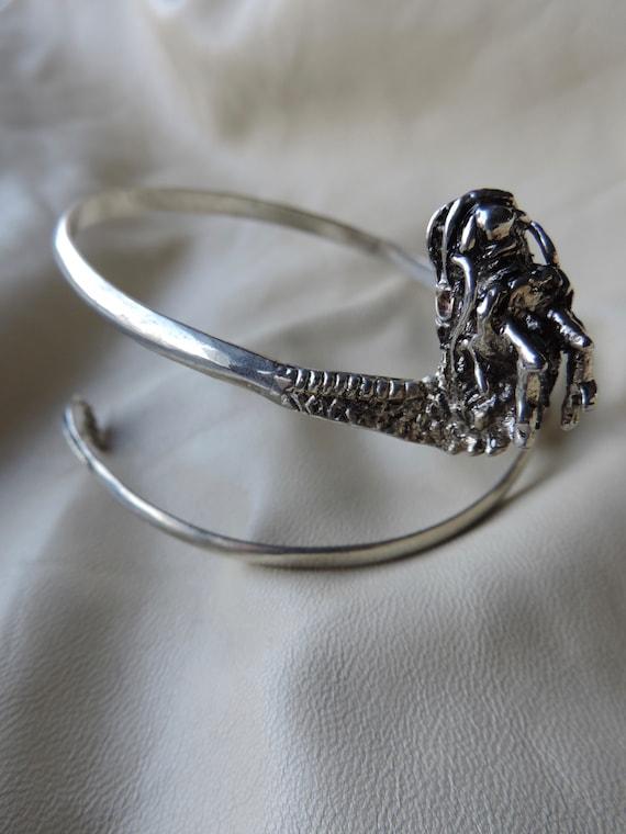 silver dragon arm band hand made silver dragon coi
