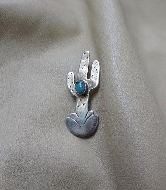 vintage cactus pi sterling silver cactus pin silve