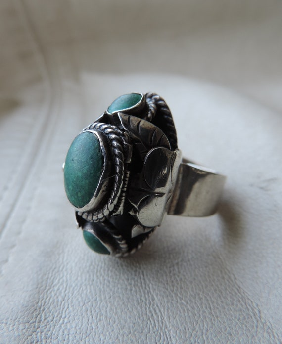 poison ring antique sterling silver taxco ring gre