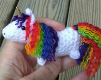 Mini Unicorn crochet pattern - easy no-sew amigurumi
