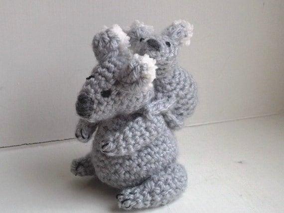 Koala Crochet Pattern Stuffed Koala Pattern Easy Crochet Etsy