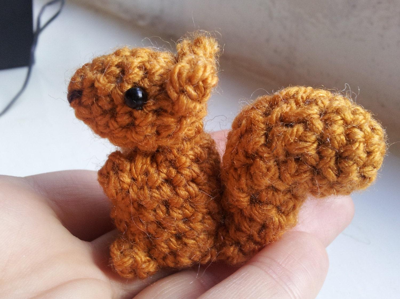 Crochet Squirrel Pattern Amigurumi Pdf Pattern For Simple Etsy