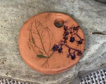 Our lady de Guadalupe pendant Virgin Mary Ceramic oil diffuser pendant terra cotta ceramic charm Artisan handmade bead car diffuser