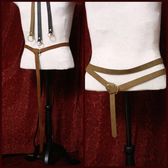 2f9cffc216e2 Bague longue en cuir ceinture double wrap ceinture costume   Etsy