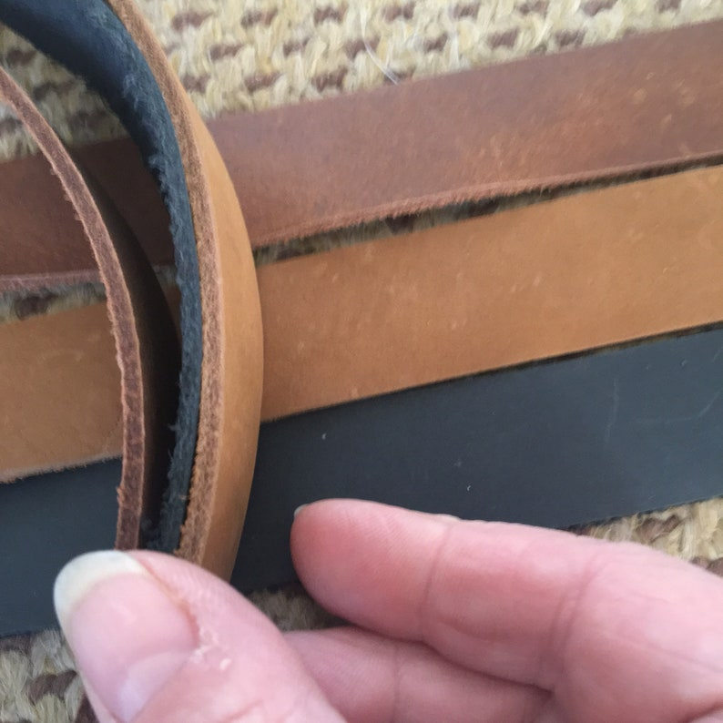 6 foot 45 72 80 inch long 1 wide Brown Black leather strip Steampunk belt blank 30 Leather Strap belt 1 inch wide purse straps 60