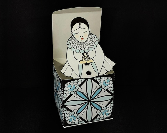 Pierrot Jack in the Box Pop Up Printable DIY file Toy Craft