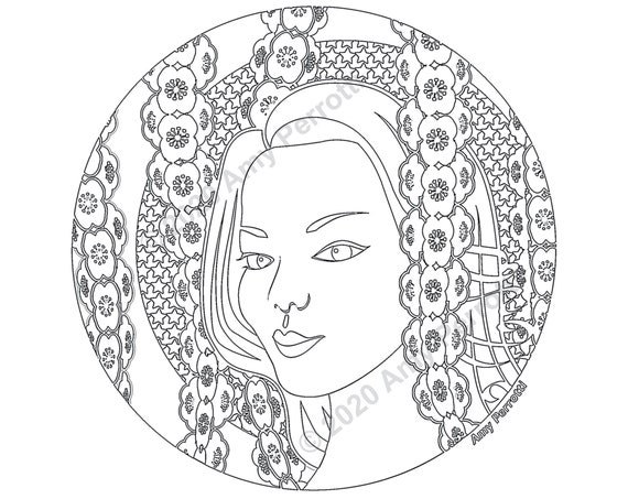 Spring Elena Coloring Page Printable file