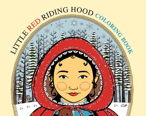 Little Red Riding Hood Coloring Book Printable File
