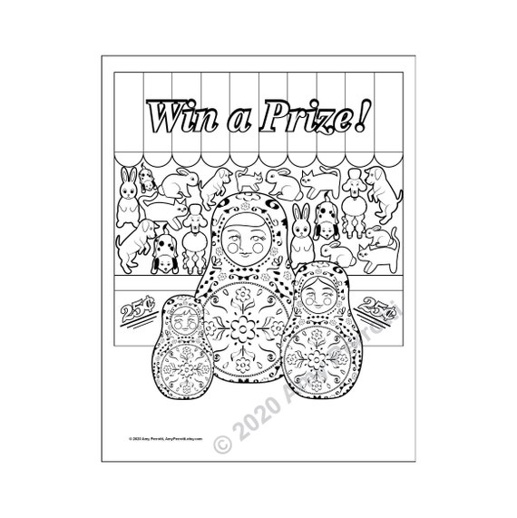 Matryoshka at the Fair coloring page printable file
