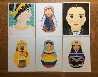 "6 Cultural Folk Dress 8.5""x11"" Prints, Proofs / Seconds"