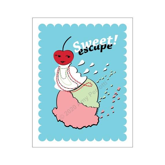 Sweet Escape printable art file