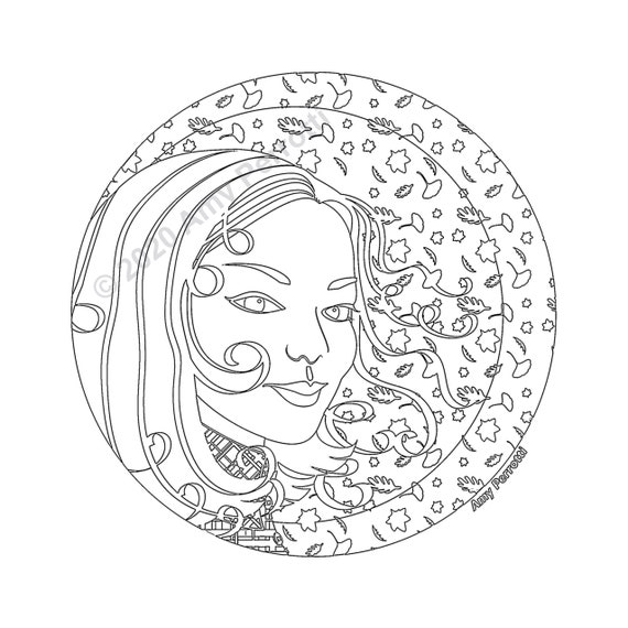 Autumn Elena Coloring Page Printable file