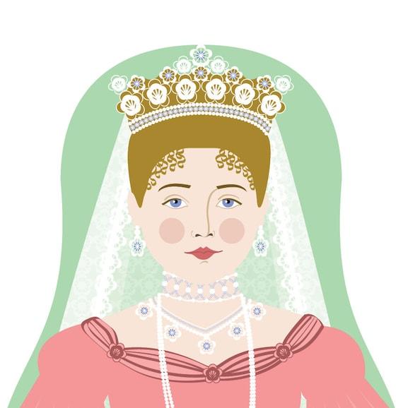 Alexandra Feodorovna Romanova Doll Art Print, matryoshka
