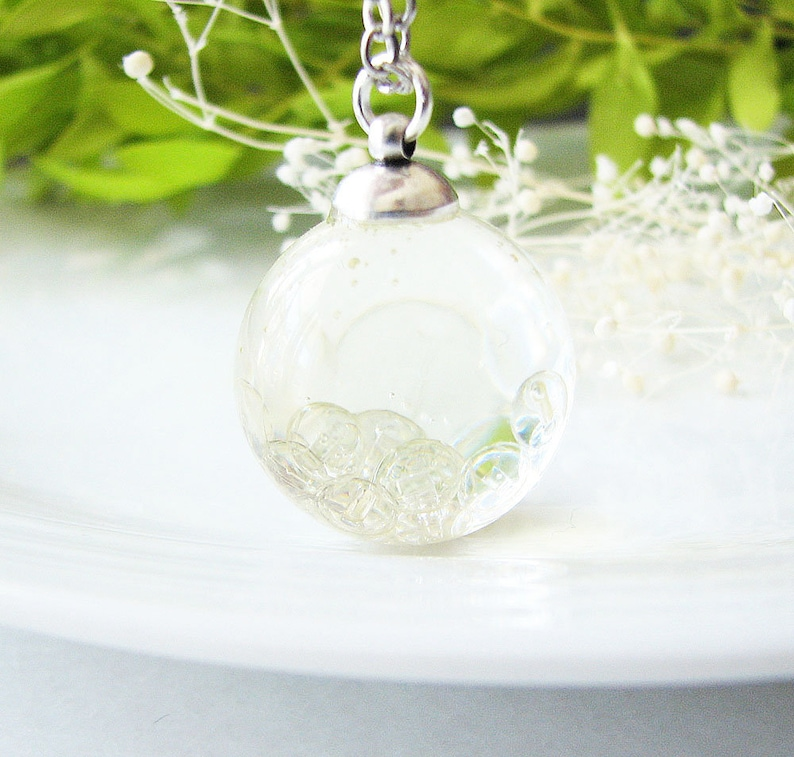Fairy Necklace Fairy Jewelry Bubble Necklace Resin Jewelry Resin Necklace
