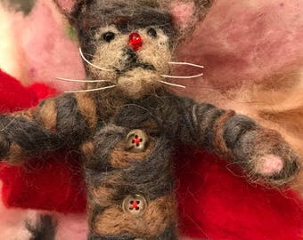 Needled felted cat doll  Made to order   One of a kind
