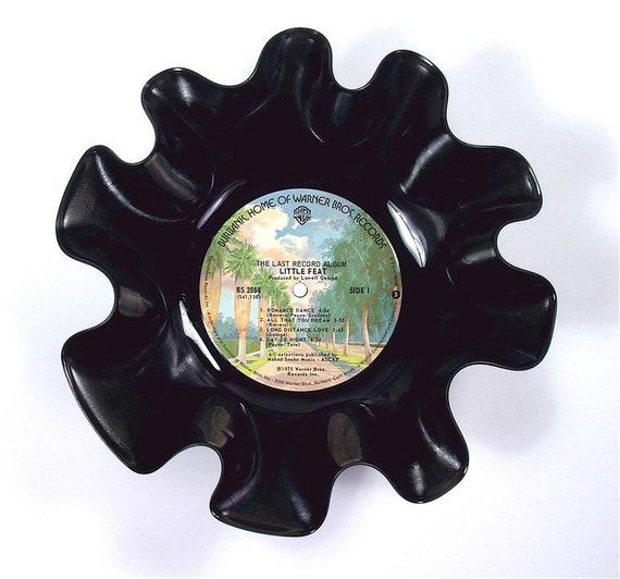 Little Feat Vinyl Record Bowl Vintage Retro Lp Album 1975 The Last Record Album Colorful Warner Bros Tree Lined Street Label