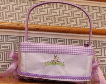 READY 8.5 inch Square lavender basket with Heirloom liner