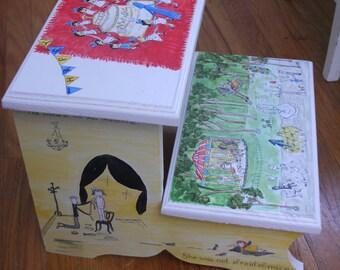 Handpainted children's step stool CUSTOM