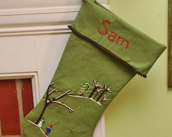 Custom Christmas Stocking Heirloom Piece for your Child Taking orders for 2015