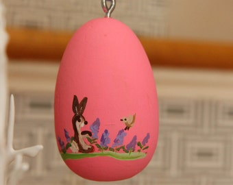 Coral  Hand Painted Wooden Easter Egg Ready to be Personalized-pick your color