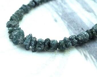 Blue Diamond Nuggets, Raw Denim Diamond Rondelle,  AAA High Quality, Lots of Sparkle, 2-3mm, Wholesale Diamonds, 20 pcs