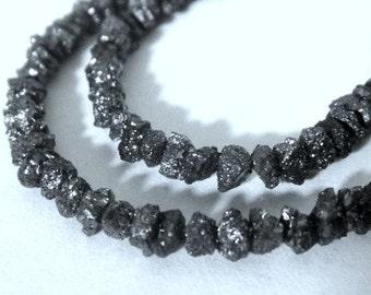 Black Diamond Nuggets,Raw Diamond Rondelle,  AAA High Quality, 10 PCS, Lots of Sparkle, 2-3.5mm, Wholesale Diamonds