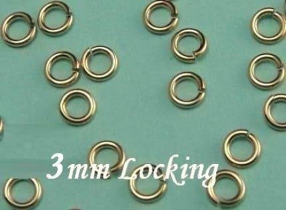 Salto anillo de plata esterlina de bloqueo clic y anillo de cerradura segura salto anillo 3 4 5 6mm