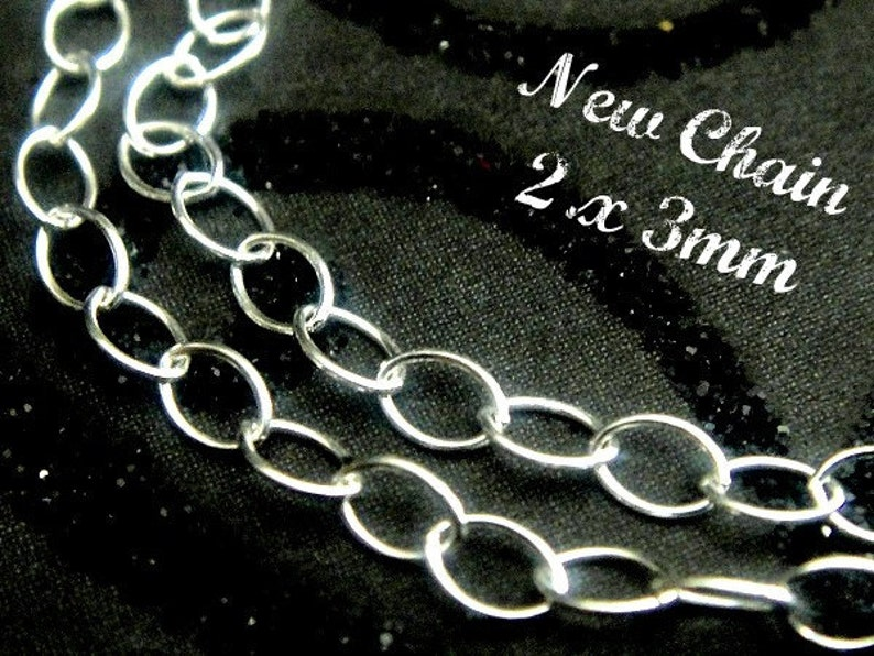 Round Wire Sterling Silver Cable Chain 5ft, 2x3mm Wholesale