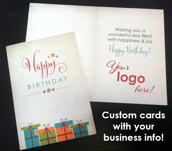 CUSTOM Bulk Business Birthday Cards Greeting 5x7