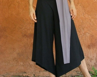 Black Wide Leg Trousers, Bell Bottoms, Casual Pants, Black Maternity Pants, Plus Size Trousers, Designer Pants, Asymmetrical Pants