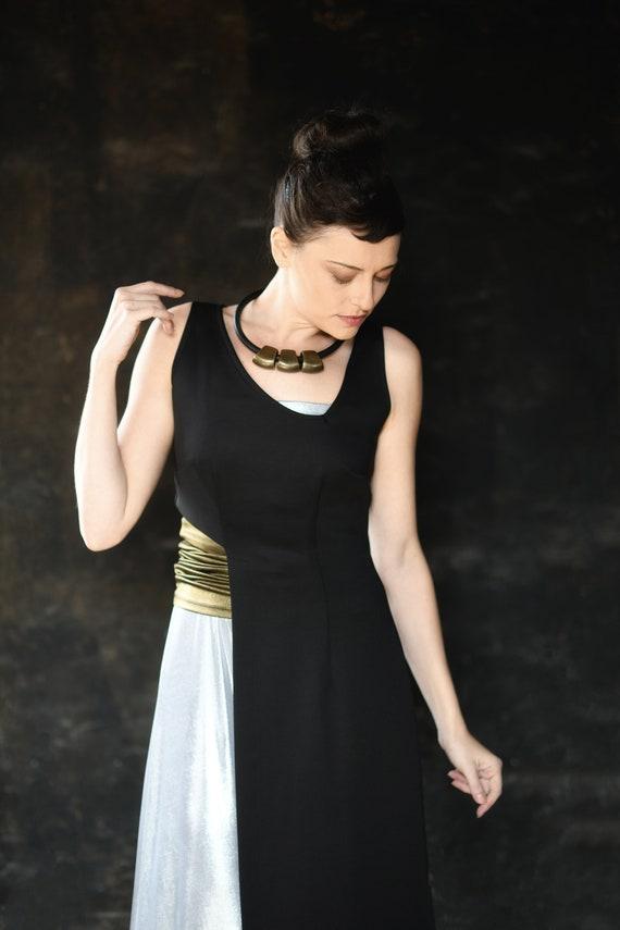 Womens Asymmetrical Dress Unusual Black Dresses Cut Out Etsy