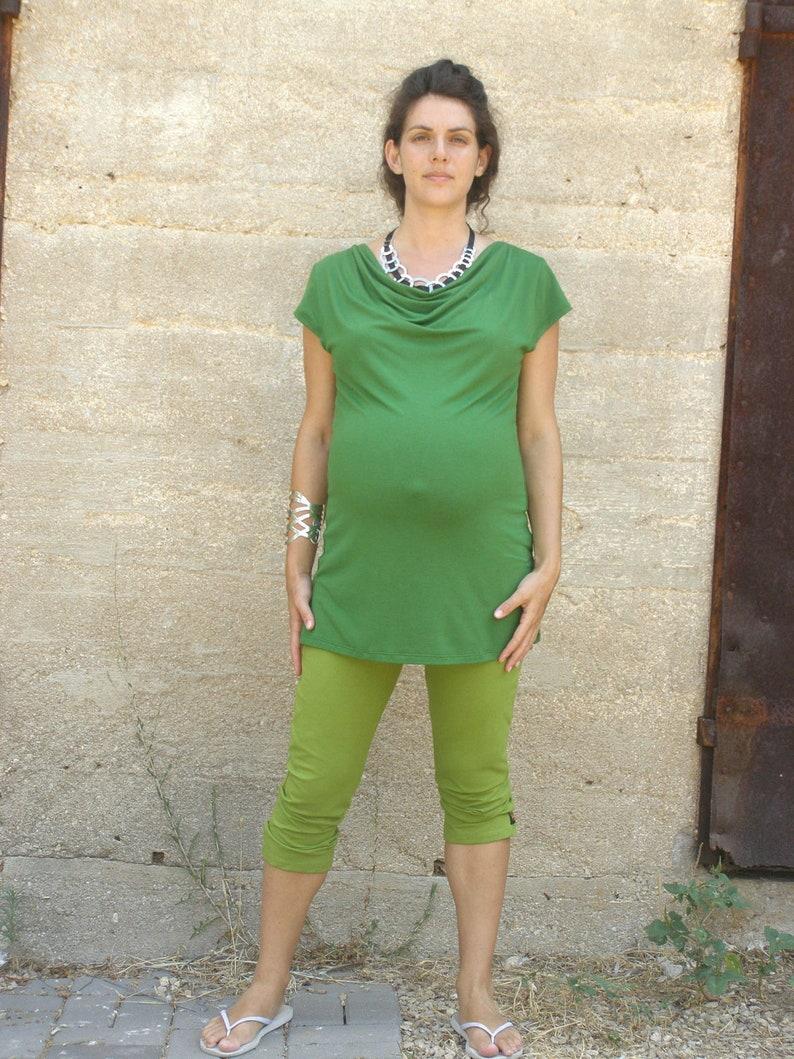 c73cca9e417 Green Maternity Top Summer Maternity Clothes Maternity