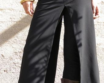 Long Black Skirt, Split Midi Skirt, Slit Skirt, Layered Skirt, Plus Size Skirts, Skirts For Women, Elegant Skirt, Burning Man, Chic Skirts