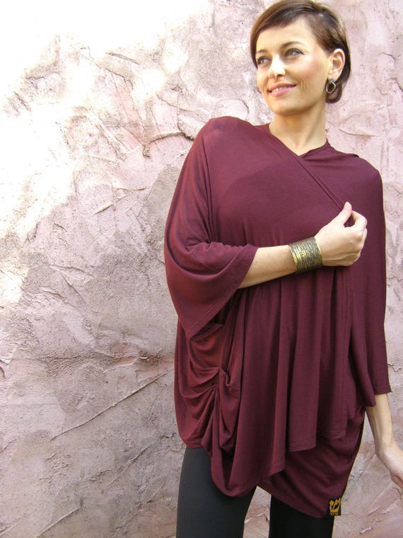 Women Fashion Shrug Oversized For Cardigan Top Purple q8ECwO1