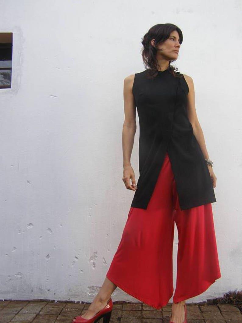Red Wide Leg Pants Maternity Pants Plus Size Pants Designer | Etsy