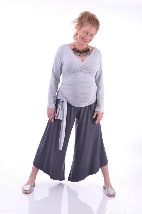 Black Maternity Trousers Pregnancy Pants Maternity Capris Etsy