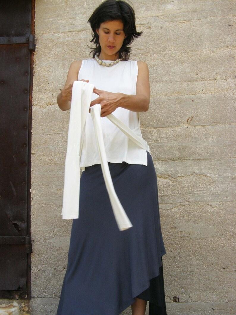 Cream Summer Sleeveless Tops Women Formal White Wrap Blouse