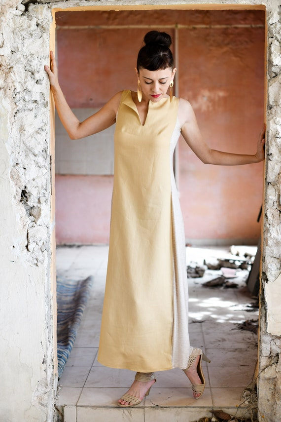 White Dress Evening Loose Hippie to Dress Linen Dress Maxi Dress Maxi Plus Size Dress to Order Summer Tribal Made Maxi Cream Off Casual fZq0wd6f