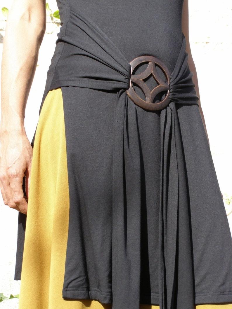 Black Elegant Tunics Made To Order Black Tunic Workwear Yoga Wear Black Wrap Top Plus Size Blouse Long Slit Top Tunic Tops For Women